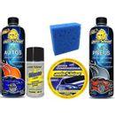 Kit-Car-Autoshine---Lava-Autos---Limpa-Pneus---Silicone-Liquido---Cera-Limpadora---Esponja
