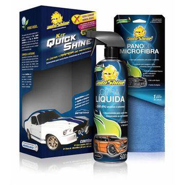 Kit-quick-shine-AutoShine---Cera-Liquida---Pano-de-Microfibra