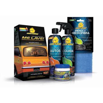 Kit-Me-Lave-Autoshine---Lava-Auto---Cera-Liquida---Pano-de-Microfibra---Silicone-Gel