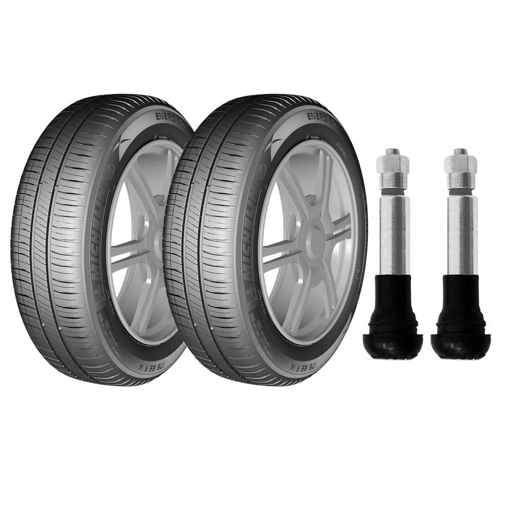 kit com 2 pneus michelin aro 16 205 55r16 energy xm2 91v e 2 bicos de press o cromados. Black Bedroom Furniture Sets. Home Design Ideas